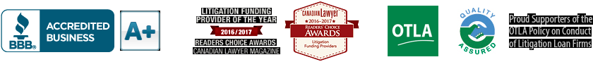BBB Business Review of this Loans in Toronto ON and Canadian Lawyer Reader's Choice Award 2016-2017