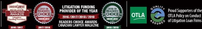 Canadian Lawyer Reader's Choice Award 2016, 2017, 2018
